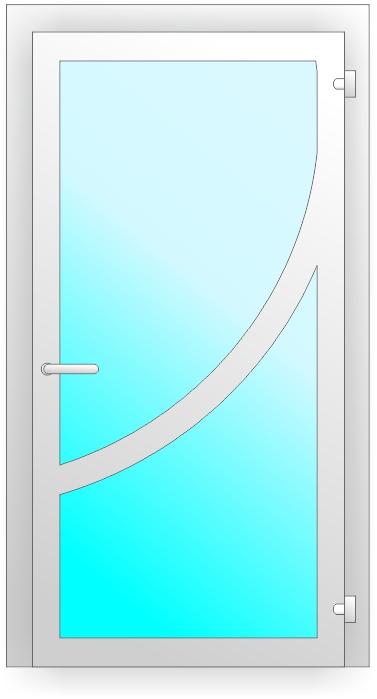 нестандартная ПВХ дверь