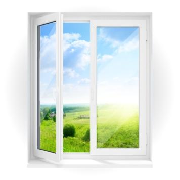 ПВХ окно двухстворчатое