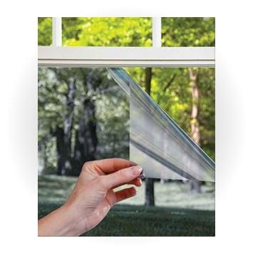 плёнка на стеклопакете окна