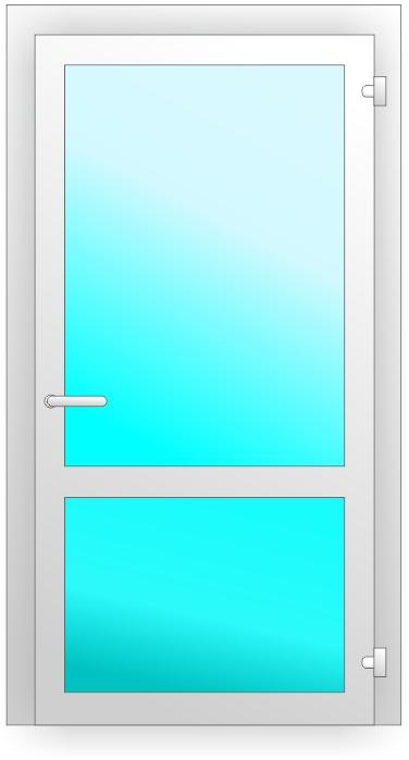 ПВХ дверь с инпостом
