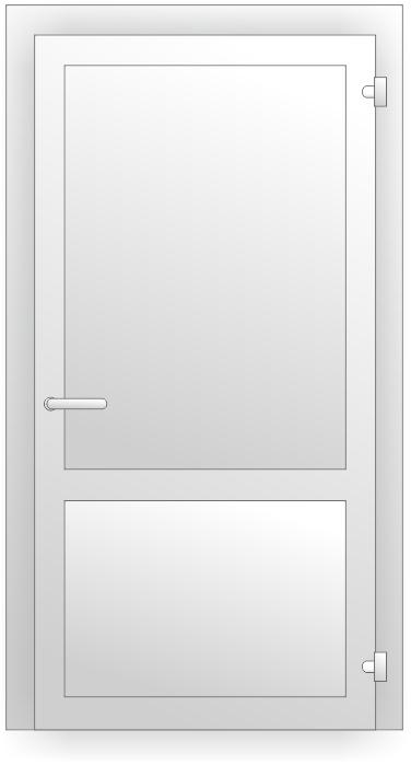 ПВХ дверь с инпостом заполненная сендвичпанелями