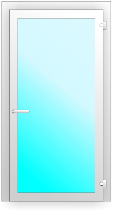 ПВХ дверь со сплошным остеклением