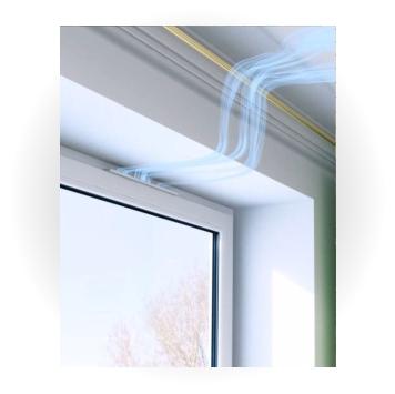 клапан приточной вентиляции на створке окна