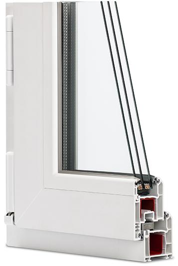 оконный ПВХ профиль Wintech Isotech 530 в разрезе