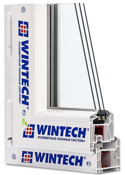оконный ПВХ профиль Wintech Poletech W80 в разрезе