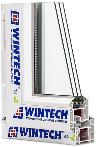 оконный ПВХ профиль Wintech Termotech 742 в разрезе