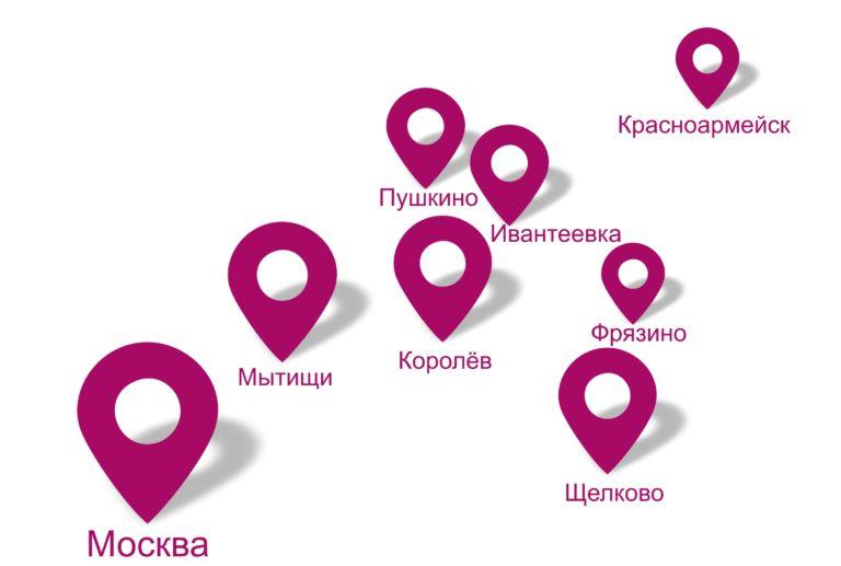 Пушкинский р-н Московской области схема.