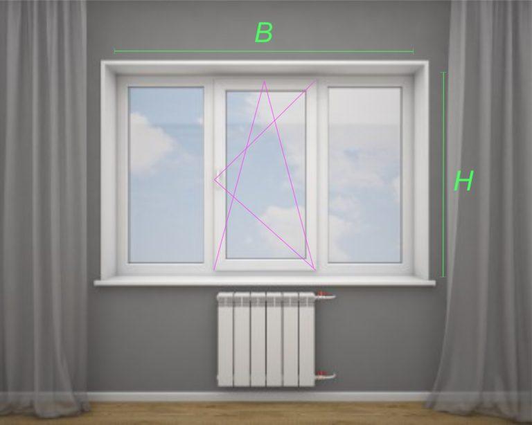 трёхстворчатое окно ПВХ