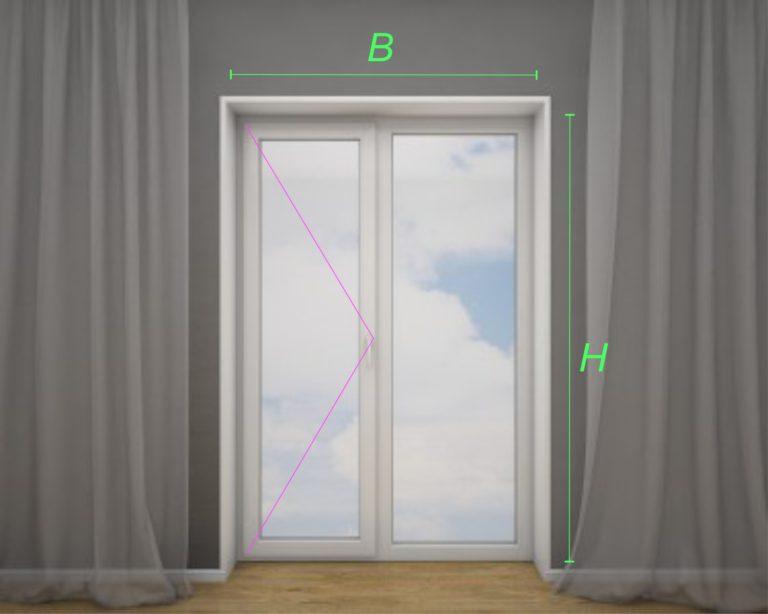 балконная дверь с глухим окном