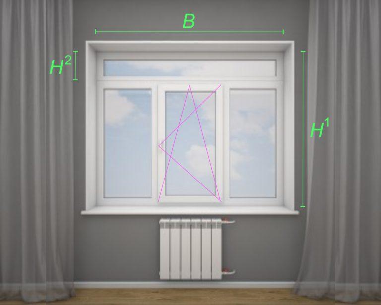 ПВХ окно с четырьмя створками